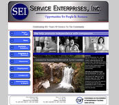Minnesota Valley Technology Inc., website design for Service Enterprises, Inc.  We also specialize in network support for small to medium size businesses.  Branch office connectivity with secure VPN technologies, content filtering to help reduce unwanted employee websurfing on company time, remote managment options, backup solutions, and more... so please call our office to make an appointment.