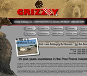 Minnesota Valley Technology Inc., website design for Grizzly Buildings, Inc.  We also specialize in network support for small to medium size businesses.  Branch office connectivity with secure VPN technologies, content filtering to help reduce unwanted employee websurfing on company time, remote managment options, backup solutions, and more... so please call our office to make an appointment.